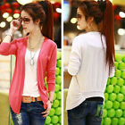 New Korean fashion ladies' knitted cardigan candy-colored shawl T-Shirt tops