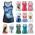 Sleeveless Sexy Flower Tank Tops Vest Racer Cami Casual T-Shirt Blouse New BF00