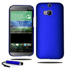 For HTC One M8 Slim Ultra Thin Hard Case Plastic Shell Cover + Screen + Stylus