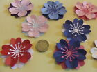 10 3d PEARLESCENT FLOWERS alternative to gift present wrapping bow Topper