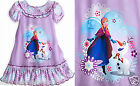 """ANNA AND OLAF NIGHTSHIRT- NIGHTGOWN FOR GIRLS DISNEY STORE """"FROZEN"""" FREE SHIP"""