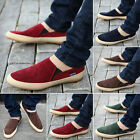 Hot NEW Mens Canvas Casual Lace Slip On Loafer Trainers Moccasins Driving Shoes