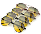 HQ Brand Mens Day/Night Vision Aviator Polarized Anti-Glare Driving Sunglasses