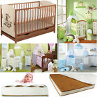 BABY COT & BOTTOM DRAWER 5 DESIGNS NURSERY BEDDING 12 COLOURS 4 TYPE MATTRESSES