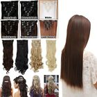 UK Seller Clip In Hair Extensions 8Pcs Full Head curly straight Human Made Hair
