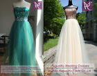 New A-line Long Strapless Wedding Evening Formal Dresses Prom Party Bridal Gowns