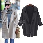 Womens Knitted Cardigan Batwing Outwear Lady Casual Loose Sweater Coat Tops BF00
