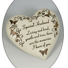 Memorial  Butterfly Heart Plaque (Mum, Dad, Son, Daughter, Brother, Sister.
