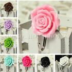 Rose Self Adhesive Stick On Door Wall Tile Towel Hanger Holder Hook Bathroom