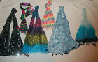 NEW JUSTICE GIRLS ONE SIZE FITS MOST SCARF/SCARVES YOUR CHOICE FROM SIX STYLES