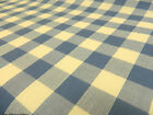 """1"""" inch BLUE GINGHAM CHECK POLYCOTTON FABRIC"""