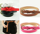 Fashion Candy Color Pu Leather Thin Skinny Waistband Belt For Women Girls