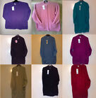 Ladies Long Sleeve Cable Knit Chunky Cardigan With Pockets Size M/L  14/16