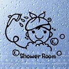 Shower Room Removeable Cute Bathroom Tile Stickers Washroom Decoration Decals