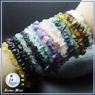 Natural Gemstone chips Bracelet * Power stone* Lucky stone*energy stone*7 inches