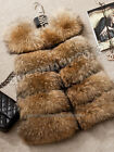 Real Raccoon Fur Vest Gilet Jacket Coat Garment Warm Fashion Hot High Quality