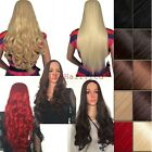 Real Thick Ladies 3/4 Wig Fall Half Wig Clip In Hair Piece With Women Wig Cap td