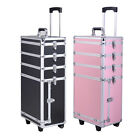 4 in 1 Hairdressing Makeup Vanity Nail Case Beauty Cosmetics Box Trolley Make