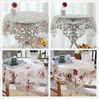 Squared Lace Tablecloth New Florals Polyester Table Cloth Party Wedding Event 1P