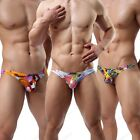 New Brand Cotton Men's Color Printed Thongs Sexy G-strings Underwear size M L XL