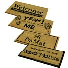 Novelty Assorted PVC Coir Doormats. Retro home entrance great quality
