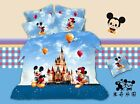Mickey and Minnie Disney Land Queen Bed Quilt Cover Set - Flat or Fitted Sheet