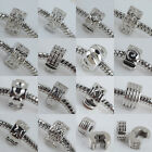 NEW Lots Various Styles Stopper Clip Lock 18k Charm Bead Fit Bracelet