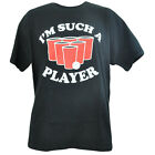 Novelty Im Such a Player Beer Pong Games Beverage Mens Tshirt Shirt Tee Adult