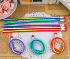 5 X MULTI-COLOURED BENDY FLEXIBLE PENCILS ERASER KIDS FUN STATIONARY PARTY GIFT