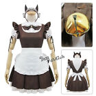 Lolita Cosplay Fancy Dress Party Coffee And White French Maid Outfit Costume