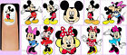 60x MICKEY and MINNIE MOUSE Nail Art Decals + Free Gems Disney