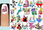 60x ALICE IN WONDERLAND Nail Art Decals + Free Gems Disney Cheshire Cat Queen
