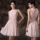 STOCK Women's Chiffon Formal Prom Cocktail Evening Quinceanera Party Ball Dress