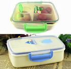 Plastic Mess Tin Food Carrier Microwaveable Lunch Container Bento Storage Box