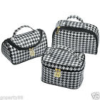 Large Houndstooth Cosmetic Bag Makeup Hanging Travel Wash Toiletry Organizer