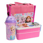 Disney Frozen Girls Kids School Picnic Insulated Lunch Box Containers Bag Bottle