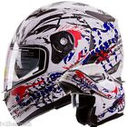 Scorpion White IV2 Modular Dual Visor Motorcycle / Snowmobile Flip Up Helmet DOT