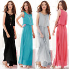 Summer New Evening/Cocktail/Party Women Ladies Long Maxi Dress Size M-XL UK 8-12