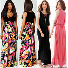 Ladies Chiffon Maxi Dress Size 8-20 Summer Long Skirt Evening Cocktail Party TOP