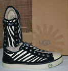 UGG Women's $130 LAELA EXOTIC ZEBRA SNEAKERS US 7, 9.5, 10 Black White Shoes NEW