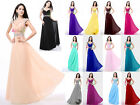 Long Chiffon Bridesmaid Dress Evening Formal Party Ball Gown Prom6 8 10 12 14 16