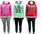 WOMENS LADIES BROOKLYN GLAMOUR HOODED TRACKSUIT TOP JOG BOTTOMS 8 10 12 14
