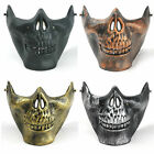 NEW HALLOWEEN SCARY SKELETON JAW HALF FACE FANCY DRESS HORROR COSTUME PARTY MASK