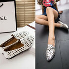Ventilate Women Pumps Hollow Out Pointed Toe Flats Single Shoes slip-on Sandals