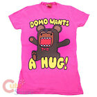 Domo Kun Girls TShirt  Girl Junior Woman Tee  Domo Wants a Hug (S to XL 4 Size)