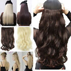 Human made Clip in hair extensions one piece half full head with 5 clips class 1