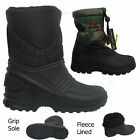 Boys Kids Children Wellington Boots Rain Fleece Line Boots Snow Boots Size 9-2
