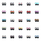 """25 Hot Styles"" 4mm 6g Image Acrylic Screw Fit Flesh Tunnels Black Ear Plugs"
