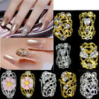 5pcs 3D Clear Alloy Zircon Rhinestone Glitter Nail Art Slices Jewelry Decoration