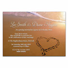Personalised Wedding Invites X-LARGE MAGNETS Beach Heart In Sand Married Abroad
